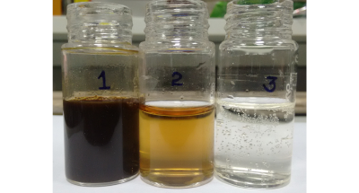 Water sample after each treatment process